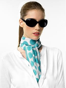 Women&#039;s Apparel: Chiffon polka dot scarf: scarves &amp; wraps accessories | Banana Republic