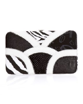 Sahara Patchwork Framed Clutch