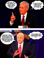 Briefing Book! Last Night's Debate . . . Comic Book Style