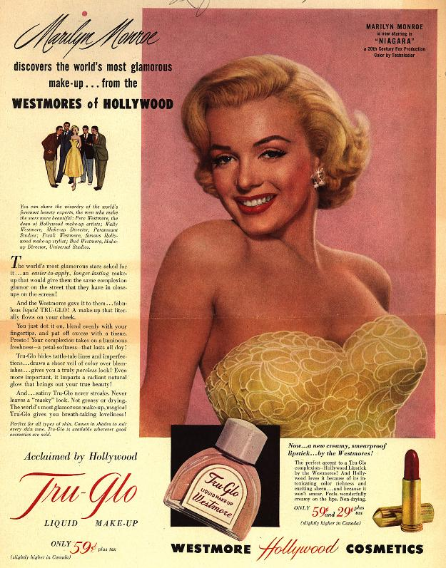 Marilyn Monroe discovers the world's most glamorous makeup....