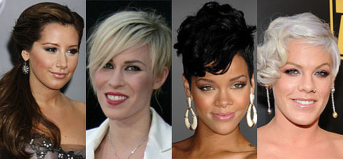 Asymmetric Hairstyles at the 2008 American Music Awards