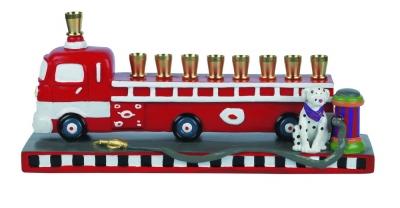 Fire Truck Menorah
