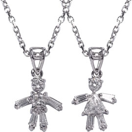 Girl/Boy Diamond Pendant and Chain: Ga Ga or Gag?