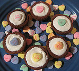 """I Heart You"" Brownie Cupcakes"