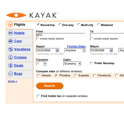 Kayak Does a Comprehensive Search