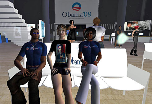 Virtual World Celebrated Obama's Win