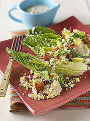 Romaine Salad with Bacon and Blue Cheese