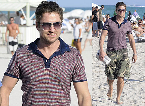 Photos of Gerard Butler on the Beach in Miami, as Rumours Suggest He Could Be the New Phantom of the Opera
