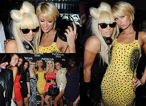 Photos and Video Footage of Paris Hilton and Lady GaGa at Nokia Party in London