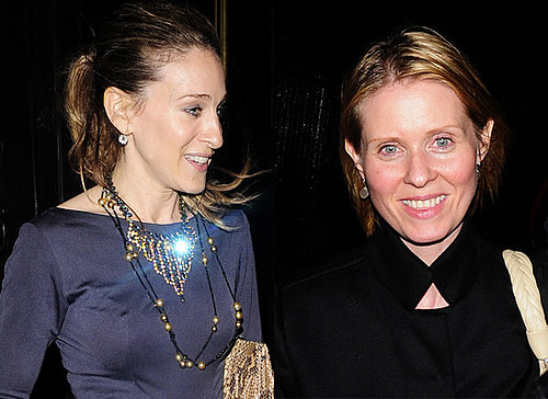 Sarah Jessica Parker and Cynthia Nixon in Town for the Sex and the City Movie World Premiere in London