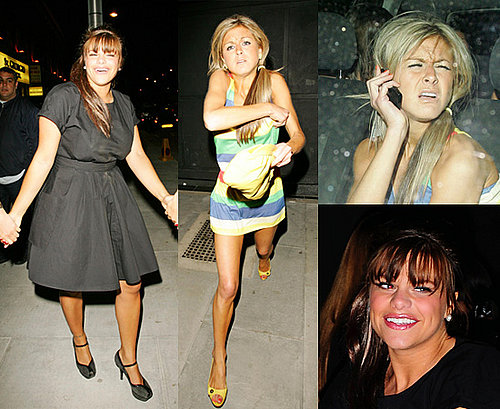 Jade Goody and Nikki Grahame at Faces Nightclub in Essex