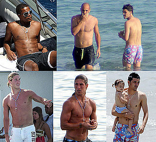 Photos of Shirtless David Villa, Topless Jose Reina, Sunbathing Patrice Evra and Sergio Ramos's Torso Plus Their WAGS In Bikinis