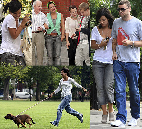 Photos Of Lily Allen, Ed Simons, Alfie Allen, Jaime Winstone and Grandad Allen Out And About In London