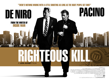 Trailer Of Righteous Kill Featuring Robert De Niro, Al Pacino, 50 Cent, Carla Gugino, John Leguizamo and Donnie Wahlberg