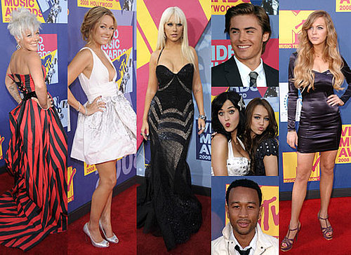 Photos From The Red Carpet At The MTV VMAs 2008, MTV Video Music Awards 2008 Feat Zac Efron, Lindsay Lohan, Miley Cyrus, Pink
