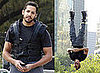 Photos Of David Blaine Hanging Upside Down in New York