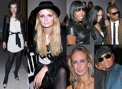 Photos Of Mischa Barton, Kelly Rowland, Usher, Solange Knowles, Ne-Yo, Milla Jovovich, Victoria Hervey at Paris Fashion Week