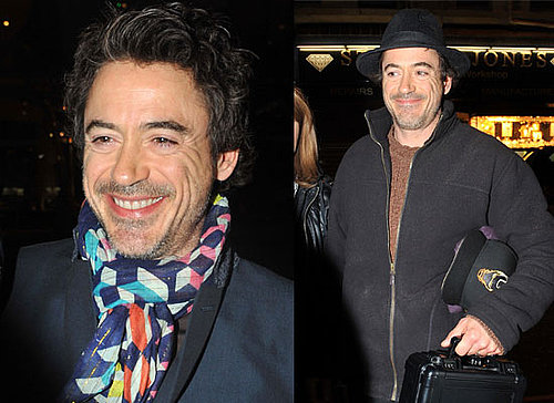 Photos Of Robert Downey Jr At His Hotel In Liverpool, Filming Sherlock Holmes, Guy Ritchie Granted Divorce From Madonna, InStyle