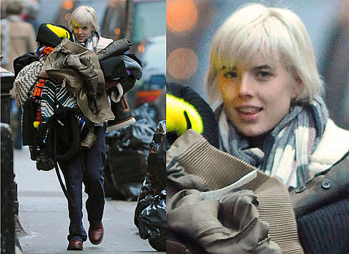 Photos Of Agyness Deyn Moving House In New York City