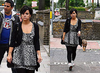 Lily Allen Leopard Print dress London Miss Selfridge