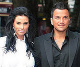 Katie Price, Jordan and Peter Andre leave the court room in fake tan