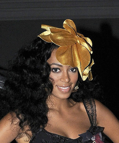 Photo of Solange Knowles, Sister of Beyonce, Love or Hate Her Oversize Flower Hair Accessory