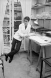 1965: Yves Saint Laurent, ex-Dior wonder boy, working at his own fashion house.