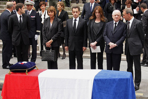 Hundreds Turn Out To Mourn at Yves Saint Laurent's Funeral