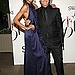 Chanel Iman in Carolina Herrera and Calvin Klein menswear designer Italo Zucchelli.