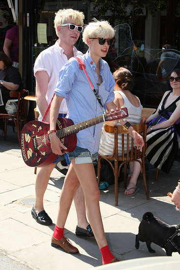 Nick Grimshaw and Agyness Deyn.