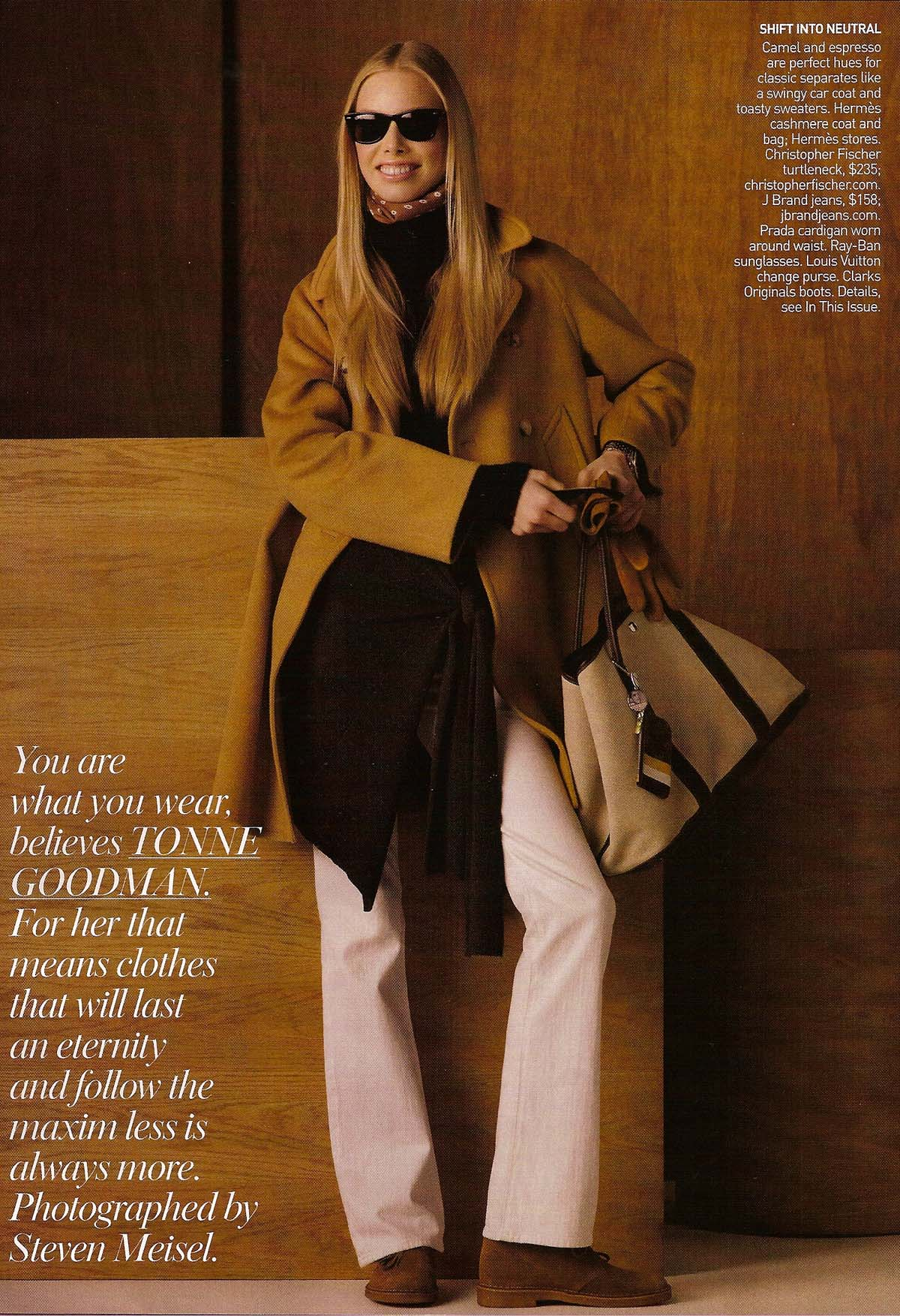 Tanya Dziahileva Takes on Tonne Goodman for Vogue August 2008