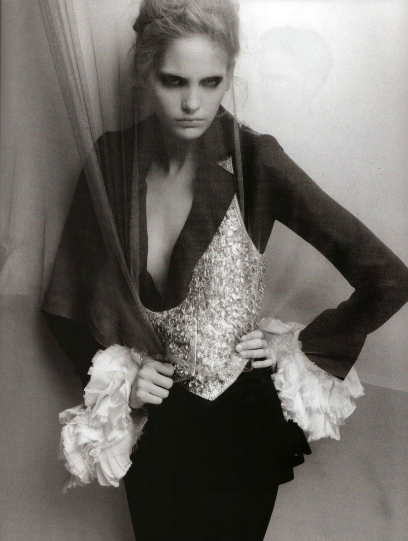 Karl Lagerfeld: Still Bobbing Along for Numero September 2008