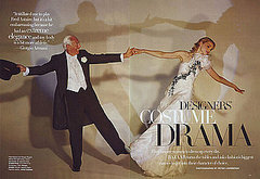 Giorgio Armani as Fred Astaire, Jessica Stam as Ginger Rogers.