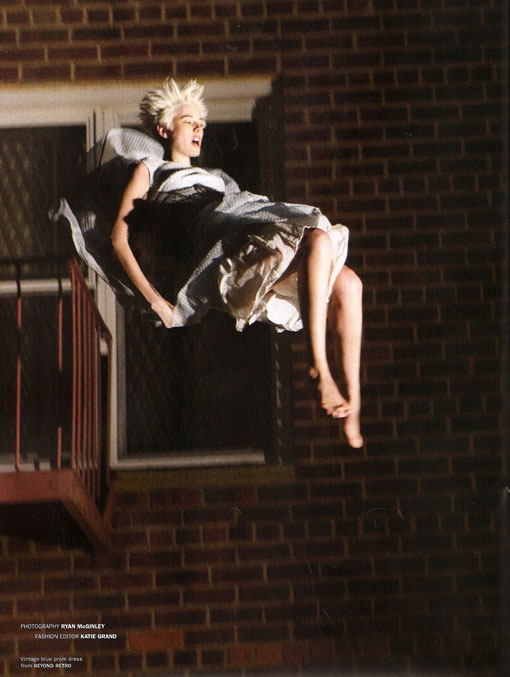 Agyness Deyn Free Falls for POP Fall 2008