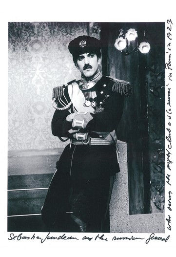 Lagerfeld's bodyguard Sebastien Jondeau as a Russian general.