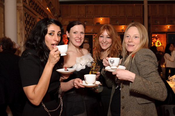Agent Provocateur's Serena Rees, Katie Grand, Charlotte Tilbury, and Luella Bartley.