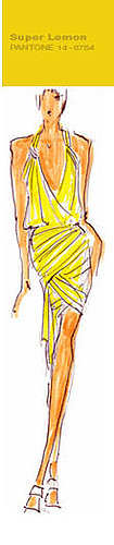 Spring / Summer 2009 Top Color Trends , Women's Wear - Super lemon