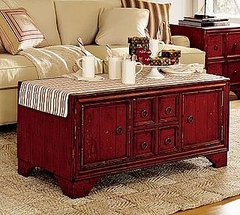 The Campton Coffee Table is perfectly distressed!