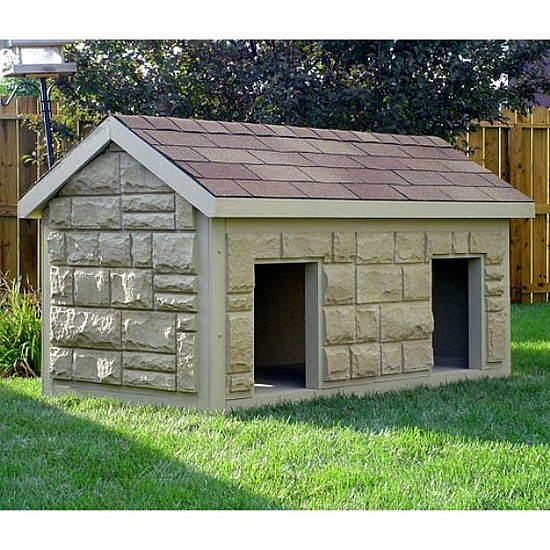Hi-Tech Large Duplex Insulated Dog House - Dog Houses at Dog Houses