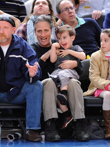 Jon Stewart and Son