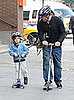 Matthew Broderick Scooting with James