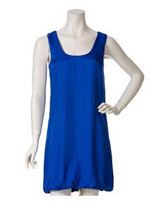 MCQ ALEXANDER MCQUEEN blue bubble hem dress