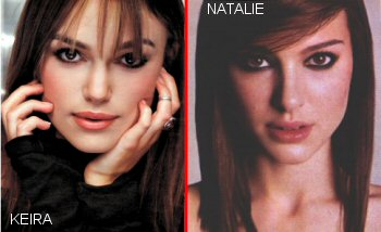 Natalie Portman and Keira Knightley-Separated At Birth?