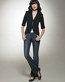 Juicy Couture Shrunken Blazer & The Cali Black Tulip Jeans