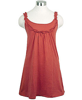 Paprika Daisy Babydoll Tunic Tank Top by LA Made ($32.30)