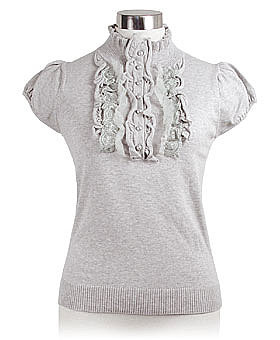 Grey Victorian Valerie Top by Nick &amp; Mo ($42)