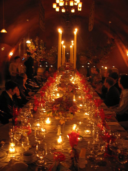 We had a fall wedding in a wine cave, a Banquet to share with our loved ones