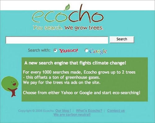 Start Eco-searching with Ecocho: You search, they Plant Trees