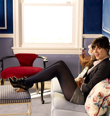 Zooey Deschanel Shows Domino Her Digs