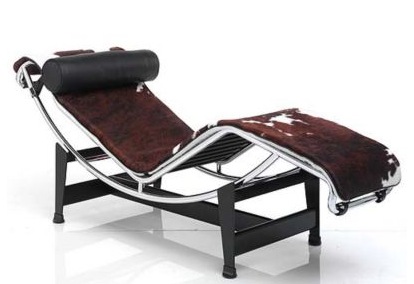 The LC4 Chaise Longue ($3,410), though, is practically a degree from art school! Cowhide and pigskin are alike, right?